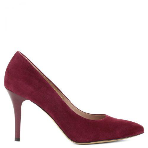 Nagyon elegáns, 9 cm magas sarkú alkalmi cipő nubuk bőrből.