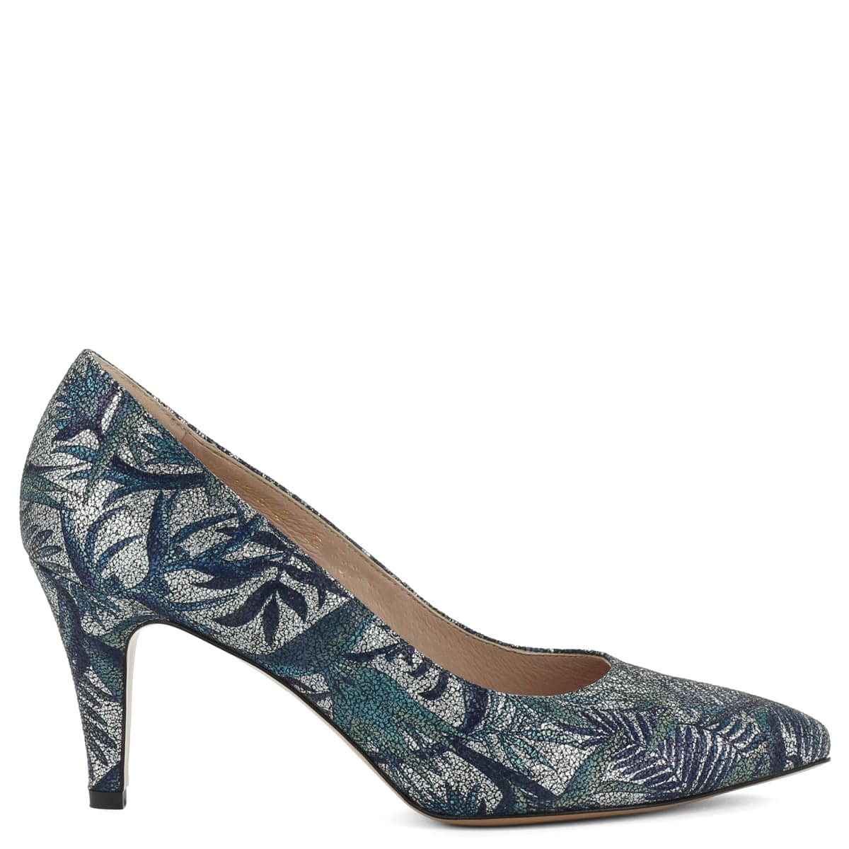 756bfa6a9c Kék- · 7,5 cm magas sarokkal, kívül belül bőrből készült női Anis cipő.