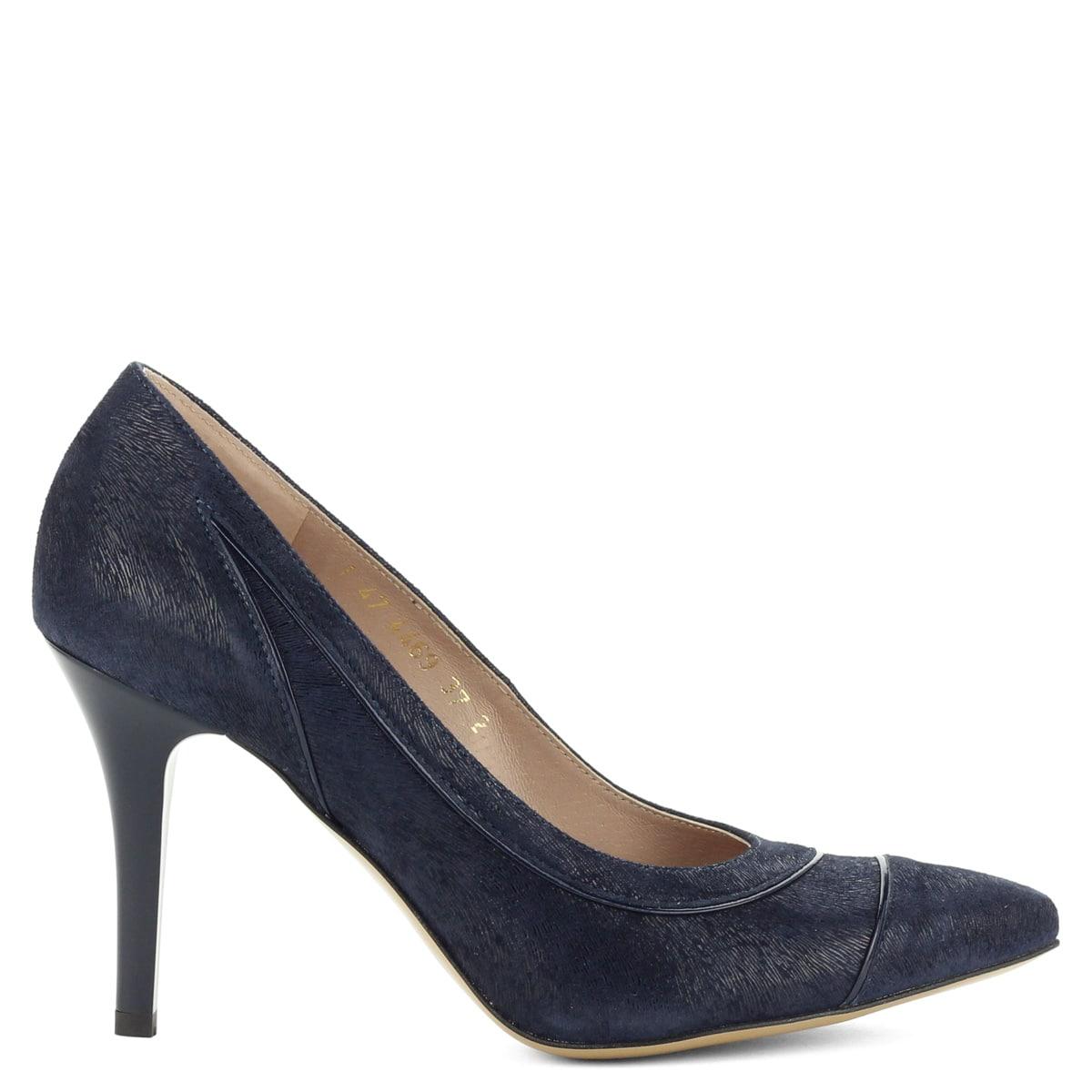 Sötétkék Anis alkalmi cipő