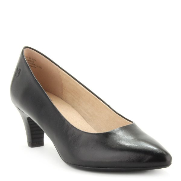 Klasszikus Caprice női cipő bőrből. Sarka 5,5 cm magas.