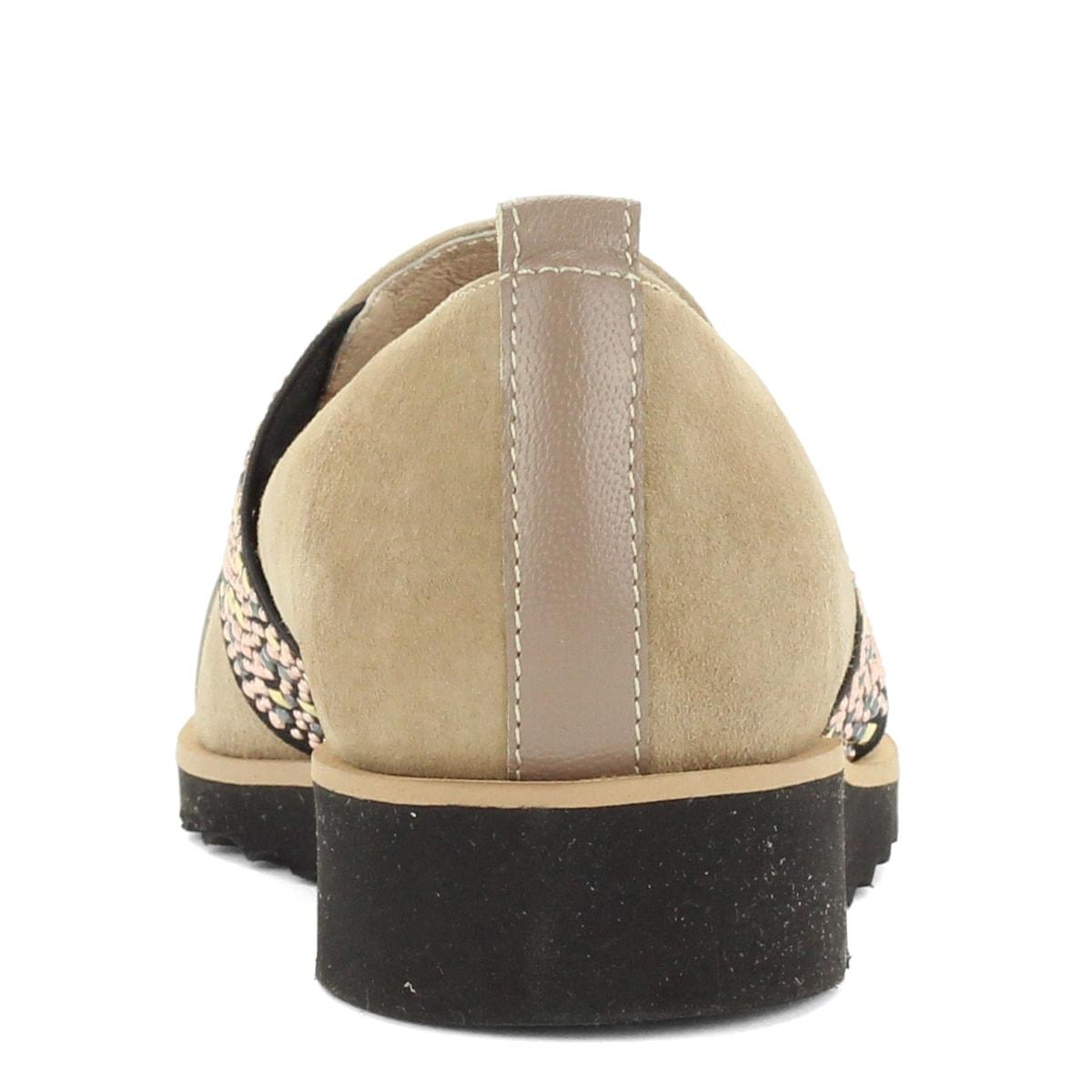 adc48061a0 Luca Cavialli belebújós női bőr cipő bézs színben, oldalán díszített gumi  betéttel.