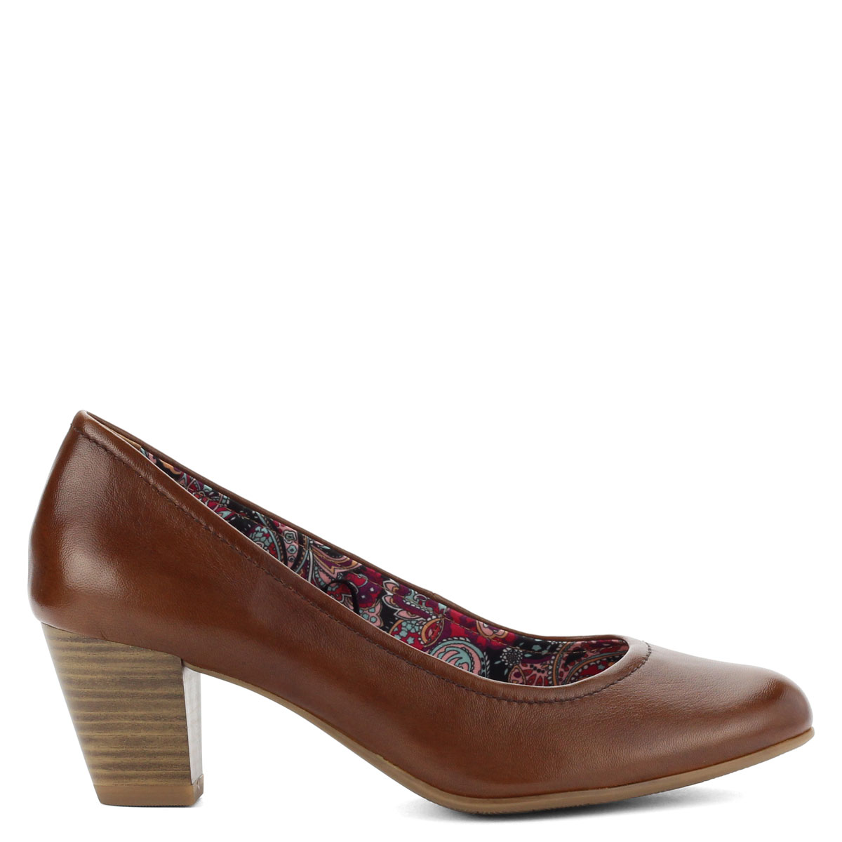 Tamaris barna női bőr cipő 5e2c49661d