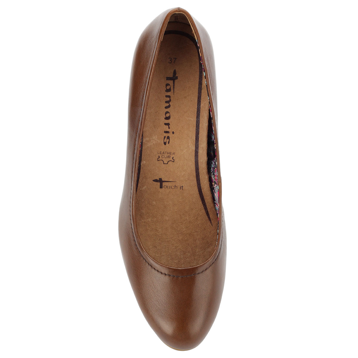 Tamaris barna női bőr cipő a06c527646