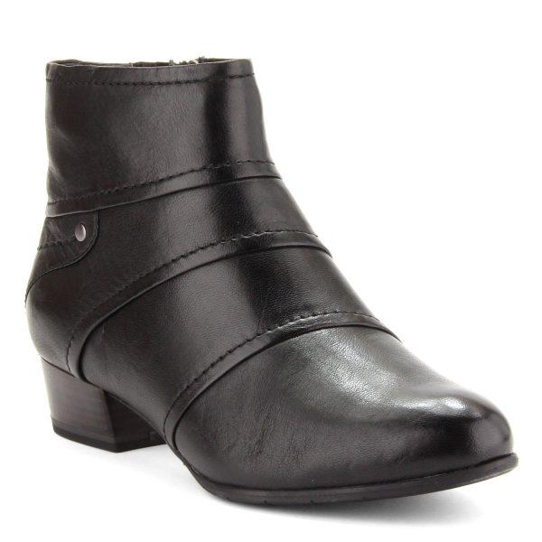 Kényelmes, 3,5 cm magas ANTiShokk sarokkal készült fekete Tamaris bokacipő puha memóriahabos talpbéléssel. Márka: Tamaris Szín: BLACK Modellszám: 1-25301-25 001