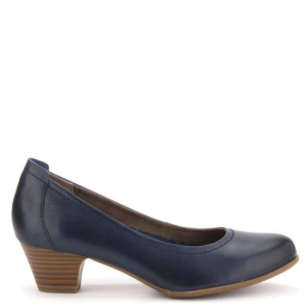 Kerek orrú kis sarkú Tamaris cipő kb 4 cm magas ANTiShokk sarokkal, puha Touch It talpbéléssel. Márka: Tamaris Szín: NAVY Modellszám: 1-22302-26 805