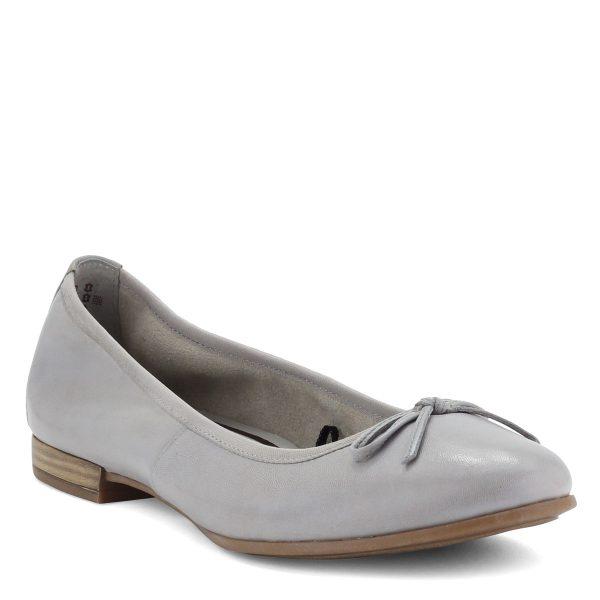 Világos Tamaris balerina cipő, orrán masni dísszel