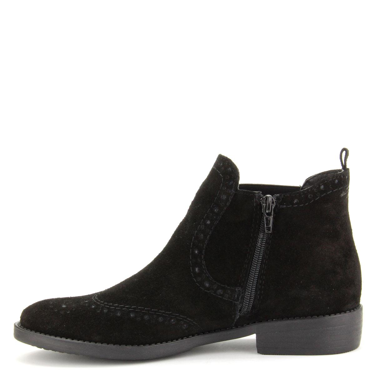 Lapos Tamaris bokacipő Magas szárú cipő Bőr bokacipő