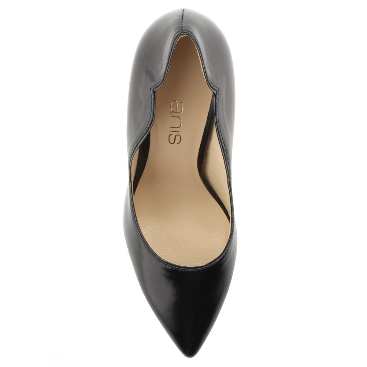 1f2a711e61 ... Anis magas sarkú bőr alkalmi cipő 9 cm magas sarokkal. A cipő  felsőrésze és bélése ...