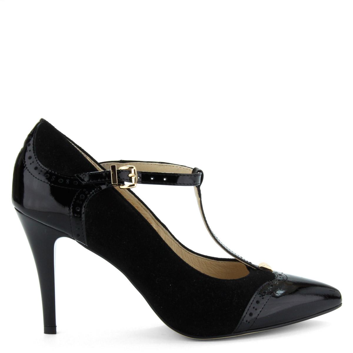 Pántos Anis alkalmi cipő fekete színben 49524220cd