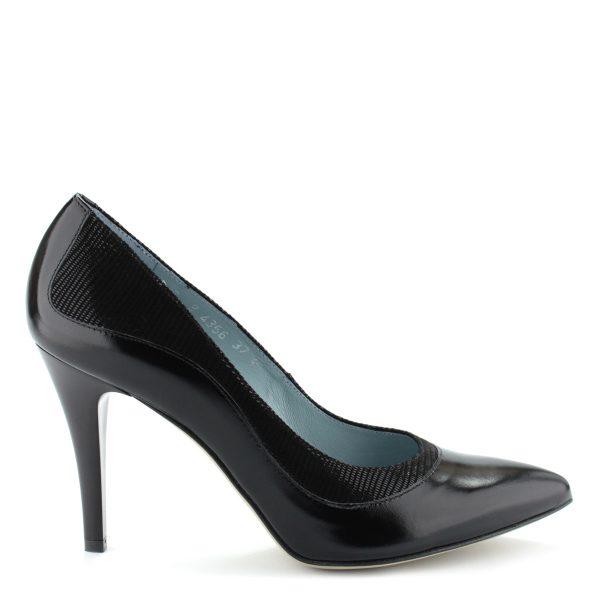 Anis bőr alkalmi cipő 9 cm magas sarokkal. A cipő kívül-belül bőrből készült.