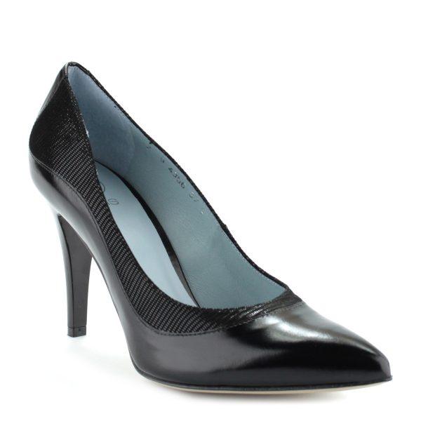 9 cm magas sarkú gyönyörű női cipő bőr felsőrésszel és bőr béléssel.
