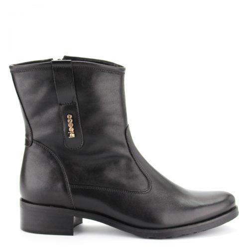 Fekete színű Bioeco bokacsizma meleg filc béléssel, gumi talppal, bőr felsőrésszel