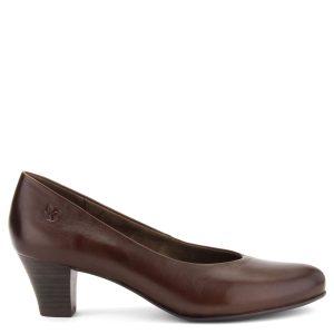 Kényelmes Caprice női cipő 5 cm magas sarokkal, puha bőrből.