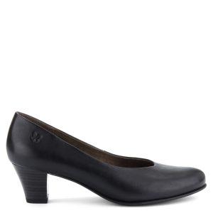 Klasszikus fazonú Caprice női bőrcipő fekete színben. Sarka 5 cm magas. 501089a5ae