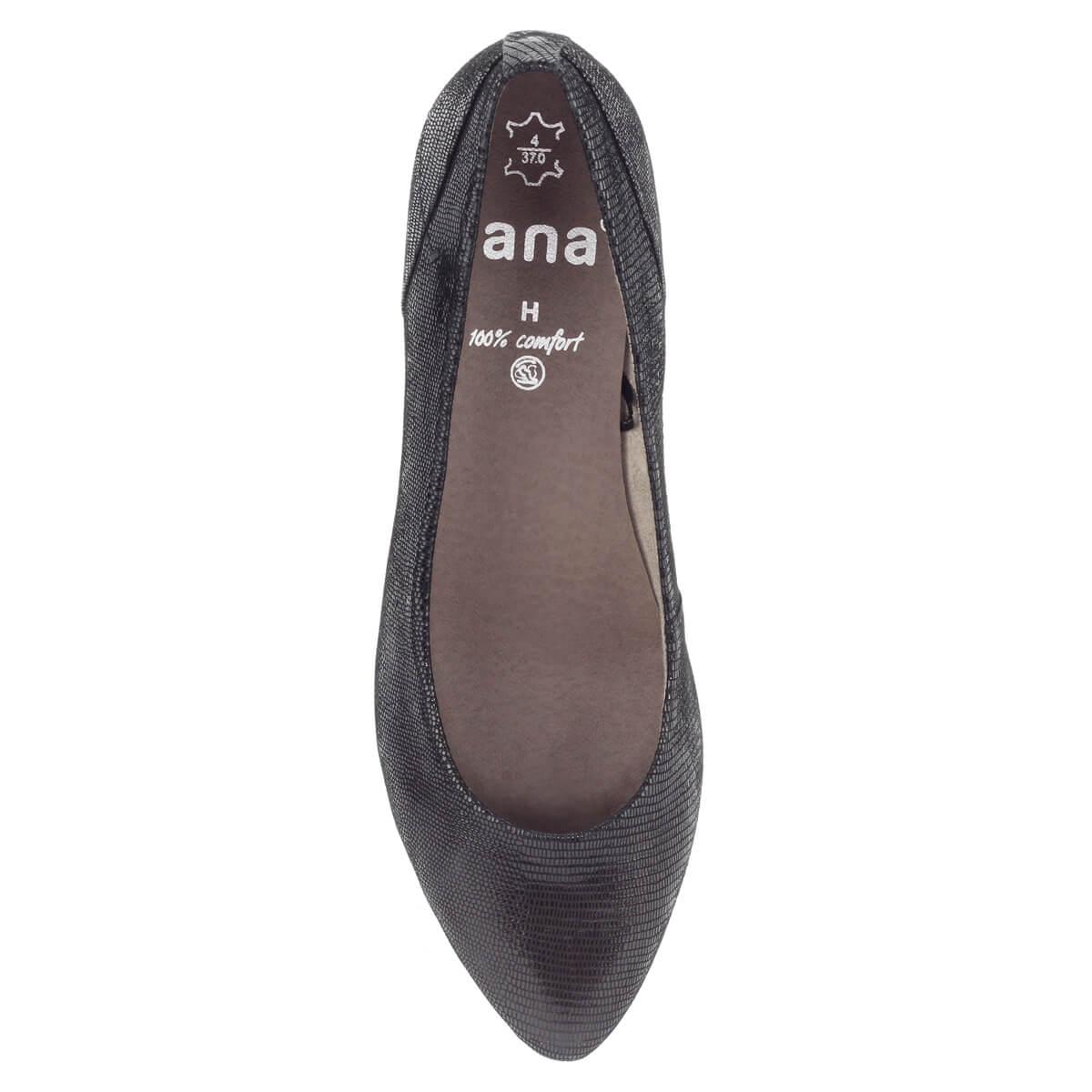 Kis sarkú fekete Jana bőr cipő 5c2d6b420b
