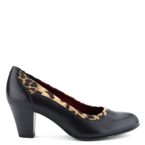6,5 cm magas sarokkal készült Jana női cipő G szélességű talppal, bőrből.