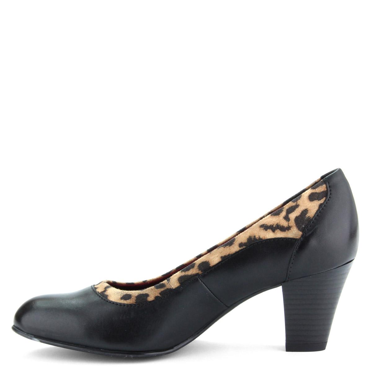 84a86b8772 6,5 cm magas sarokkal készült Jana női cipő G szélességű talppal, bőrből.