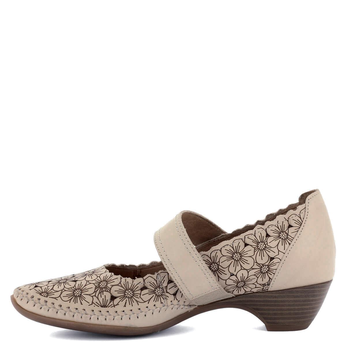 Jana pántos bőr cipő H szélességű talppal, tépőzáras pánttal