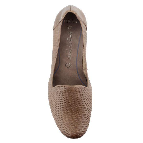 Zártabb felsőrészű Marco Tozzi női cipő 4 cm magas ANTiShokk sarokkal és puha, memóriahabos Feel Me talpbéléssel