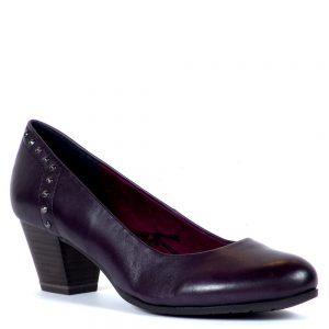 Marco Tozzi cipő természetes bőrből, 5 cm magas AntiShokk sarokkal.
