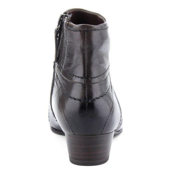 Kb 3,5 cm magas ANTiShokk sarokkal készült sötétbarna Tamaris bokacsizma