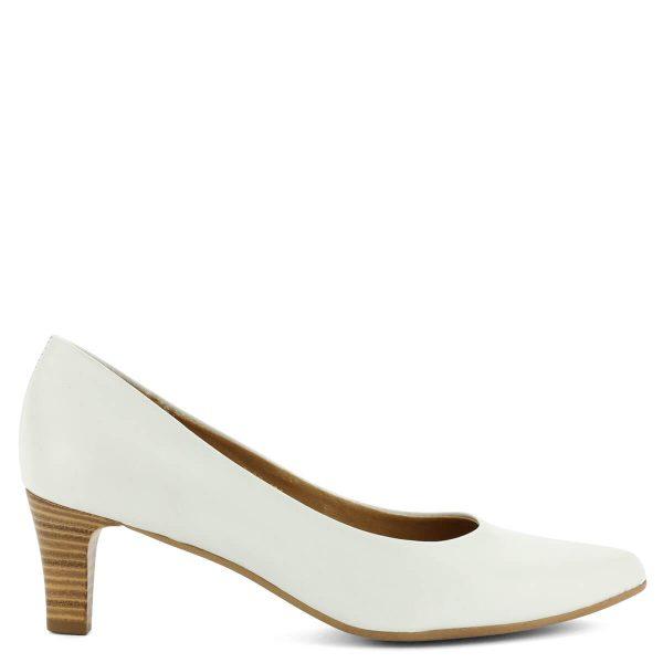 Fehér Tamaris cipő 6 cm magas sarokkal. Klasszikus, elegáns magas sarkú Tamaris cipő kiváló minőségű anyagok felhasználásával.