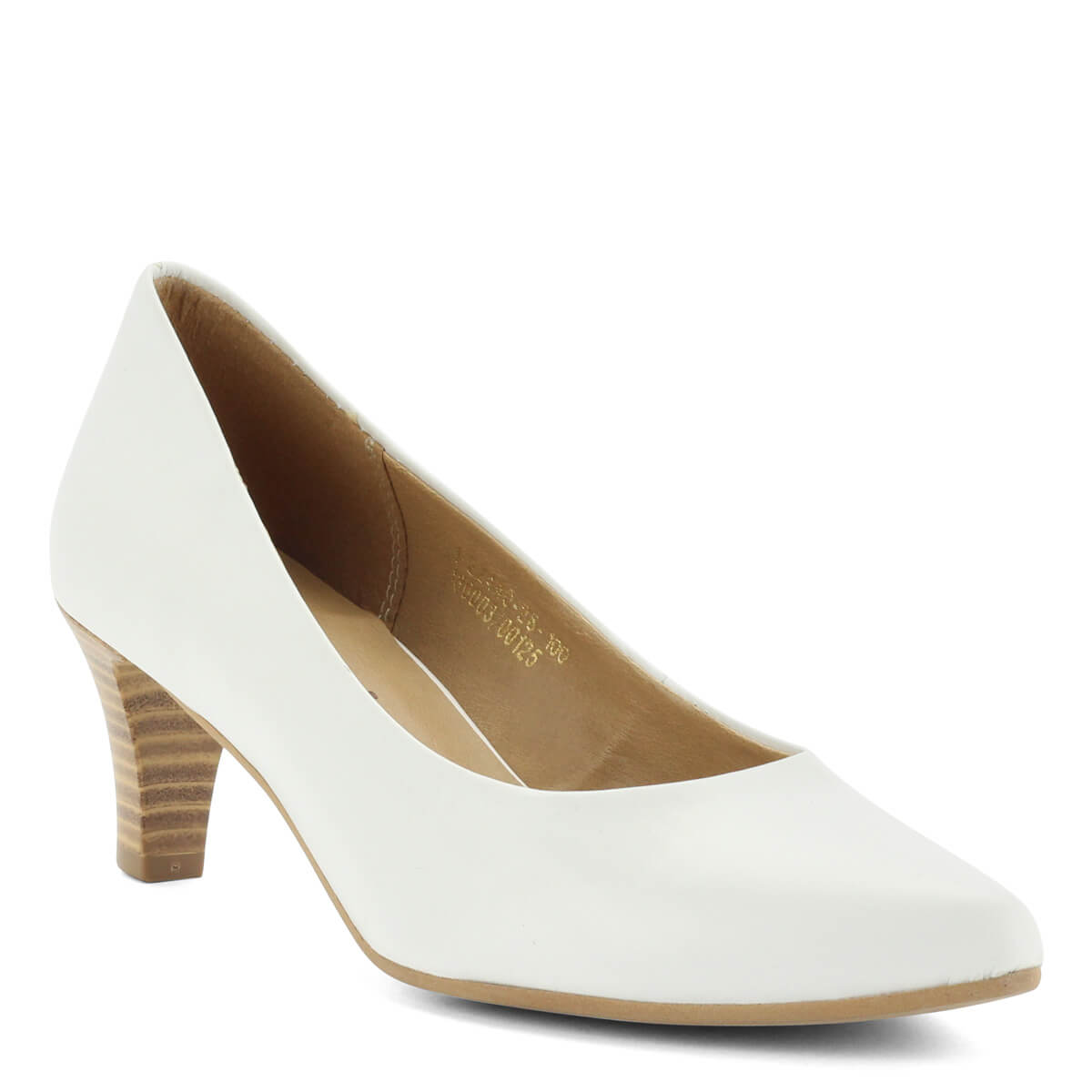 Fehér Tamaris bőr cipő