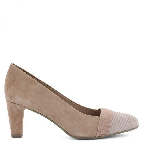 Be Natural magassarkú körömcipő. Prémium minőségű női cipő 6,5 cm magas sarokkal. Kívül-belül bőrből készült, rózsaszín színben. Elegáns magassarkú cipő.
