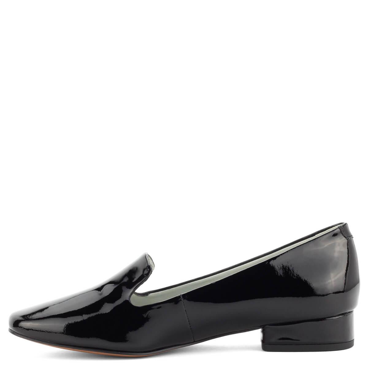 Be Natural női cipő fekete lakk bőr felsőrésszel 2,5 cm