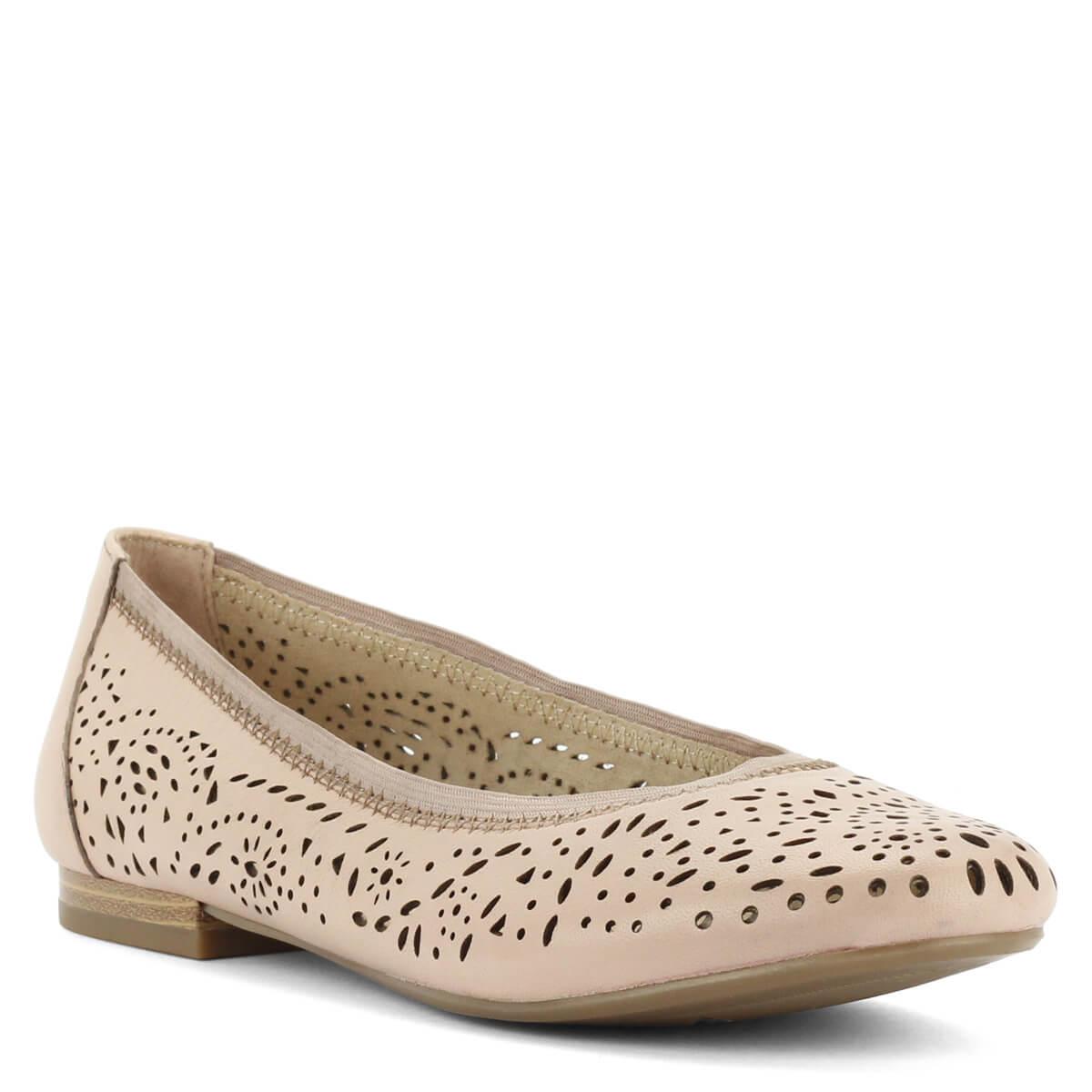 Rózsaszín Caprice balerina cipő bőr felsőrésszel. Könnyű kényelmes cipő. 54e67f60e3