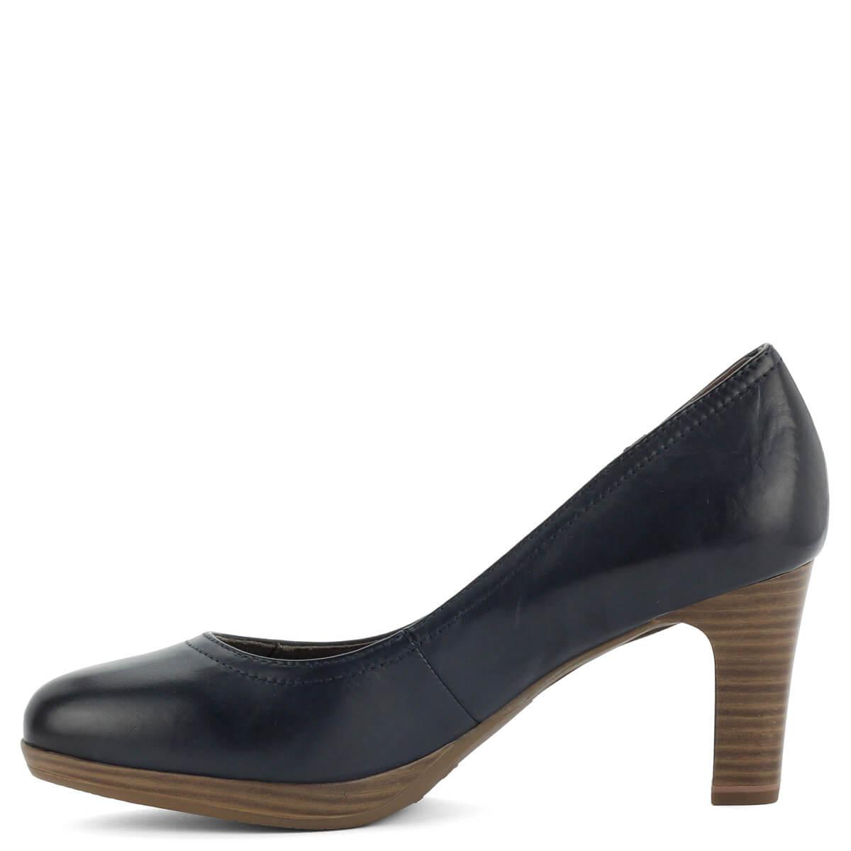 Kék Tamaris magassarkú női cipő kis platformmal 189872cc75