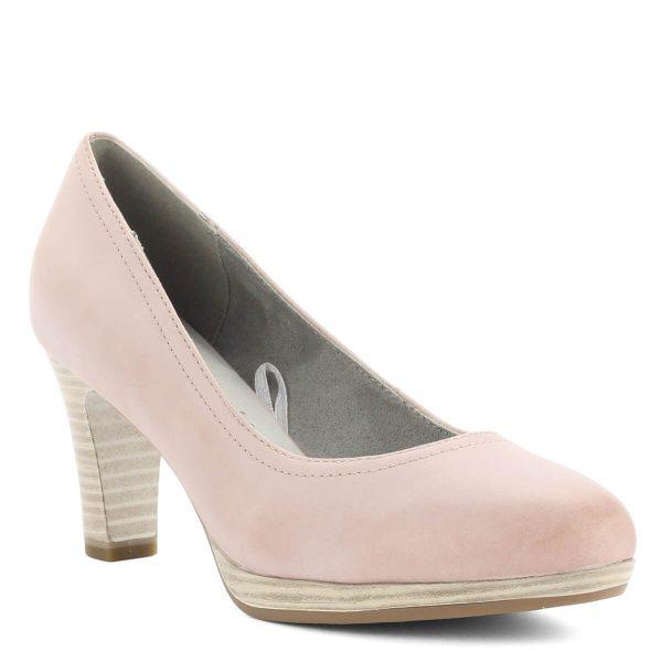 Magassarkú Tamaris cipő Antishokk sarokkal, rózsaszín színben. Sarka 7,5 cm magas