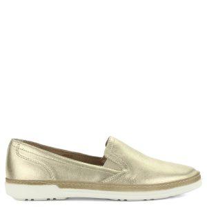 fb7df2b278 Aeros arany bőr slipon. Kényelmes olasz gyártású, bőrből készült könnyű női  cipő. -