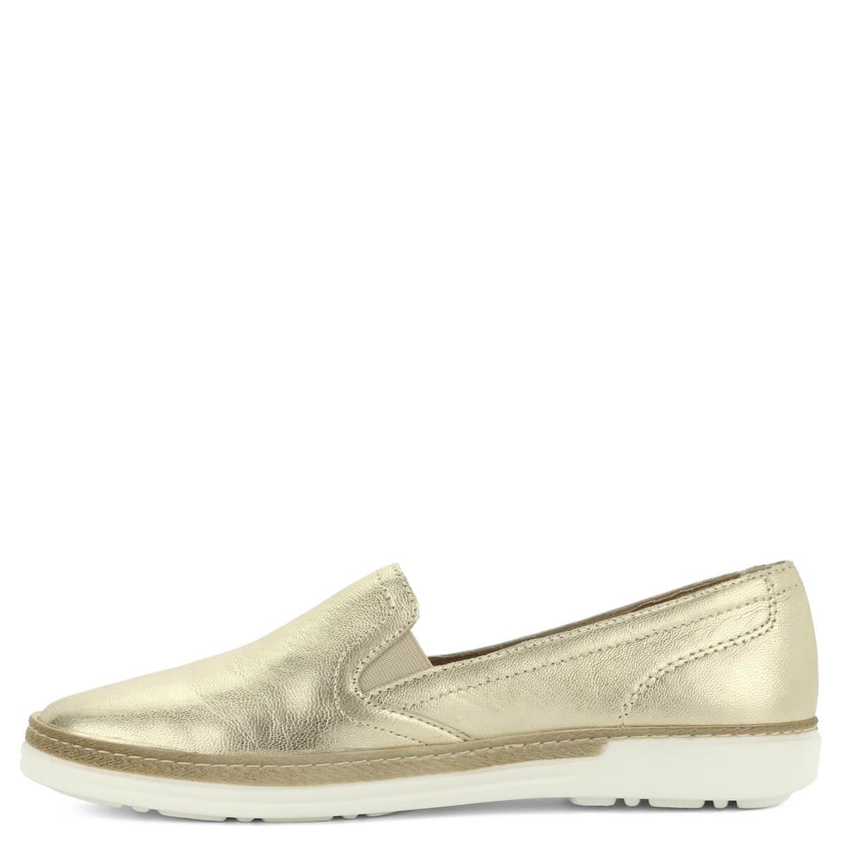 Aeros arany bőr slipon - olasz gyártású könnyű női bőr cipő 41b3a899c1