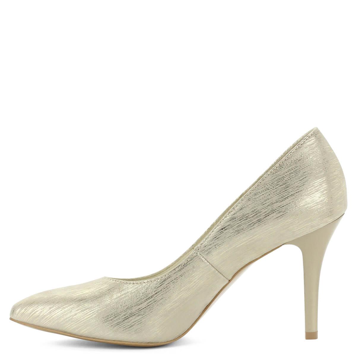 ... Hegyes orrú Anis cipő arany színben. Extra felsőrésze a  legkülönlegesebb alkalmakon is megállja a helyét 74fa96a731