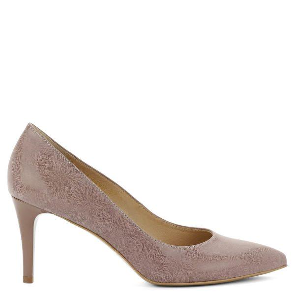 Hegyes orrú Anis cipő mályva színben. Nagyon kényelmes bőr cipő bőr béléssel. Sarokmagassága 8 cm.