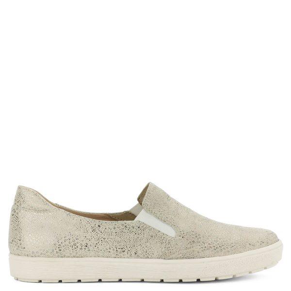 Bézs Caprice slipon kígyómintás felsőrésszel, fehér gumi talppal. Kényelmes, futkosós bőr cipő. ChiX Női Cipő Webáruház
