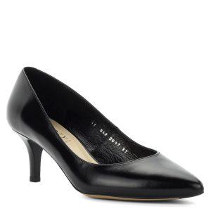 Fekete Kotyl körömcipő közepes sarokkal. Elegáns utcai és alkalmi cipő, bélése és felsőrésze is bőrből készült, sarka 6 cm magas.