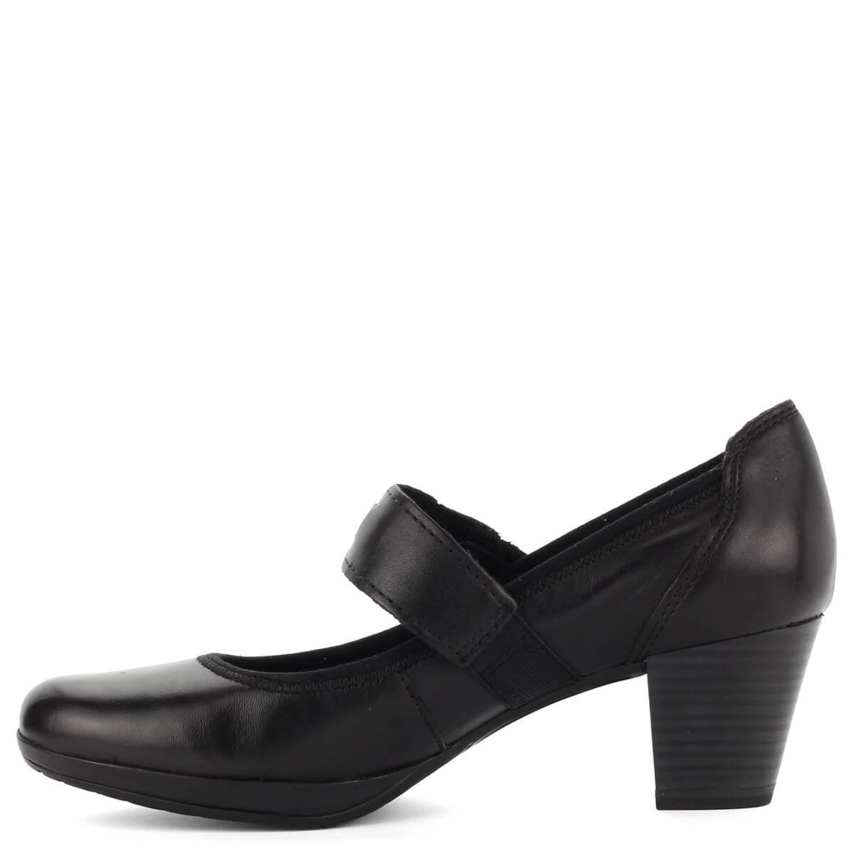 ... Fekete pántos Marco Tozzi cipő puha talpbéléssel. Antishokk sarka 5 6612718951