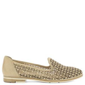 Lyukacsos Marco Tozzi bőr cipő lapos talppal. Kényelmes c5d7701746