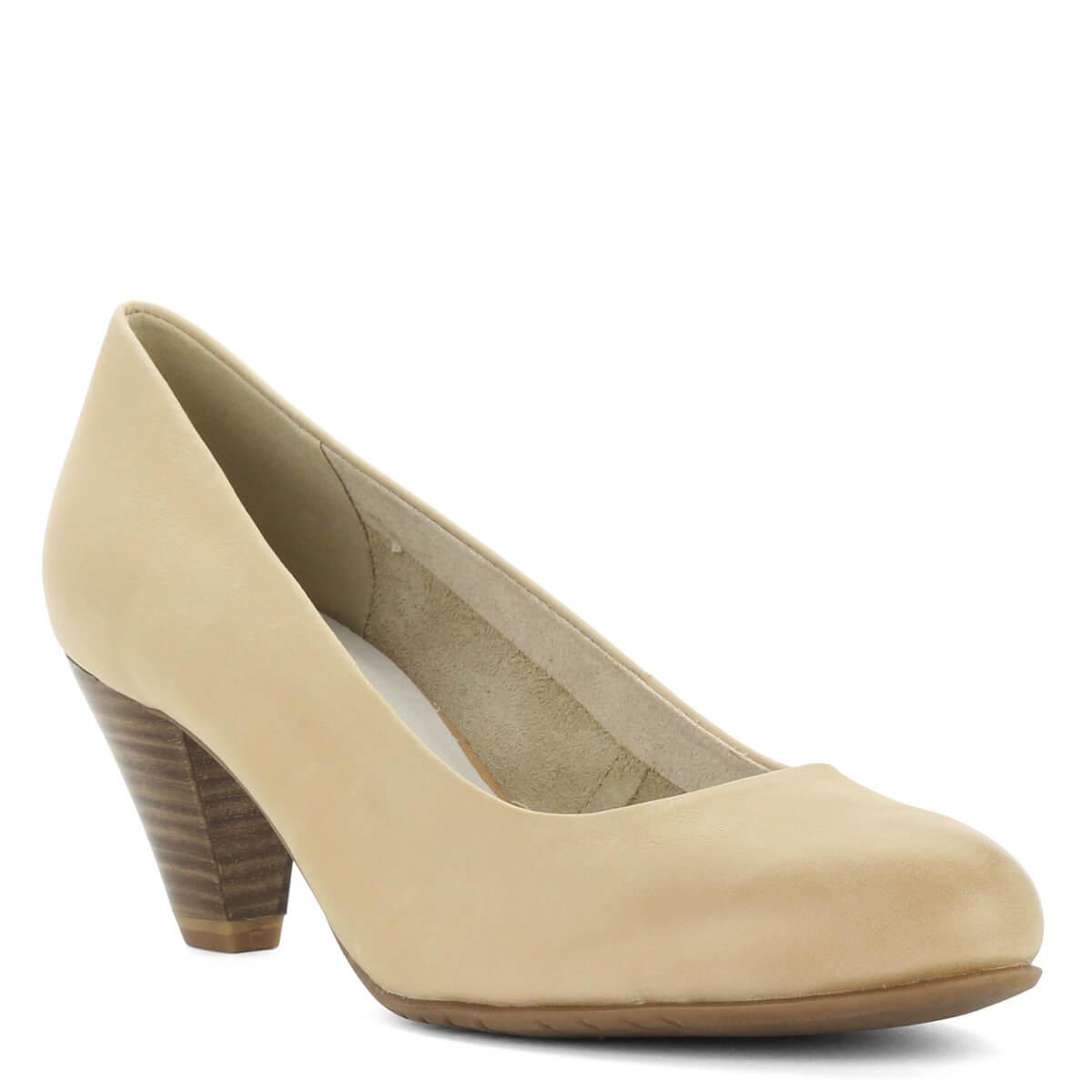 ... Bézs Tamaris cipő Antishokk sarokkal. Közepes magasságú (6 cm) sarokkal  készült c486d5bec6