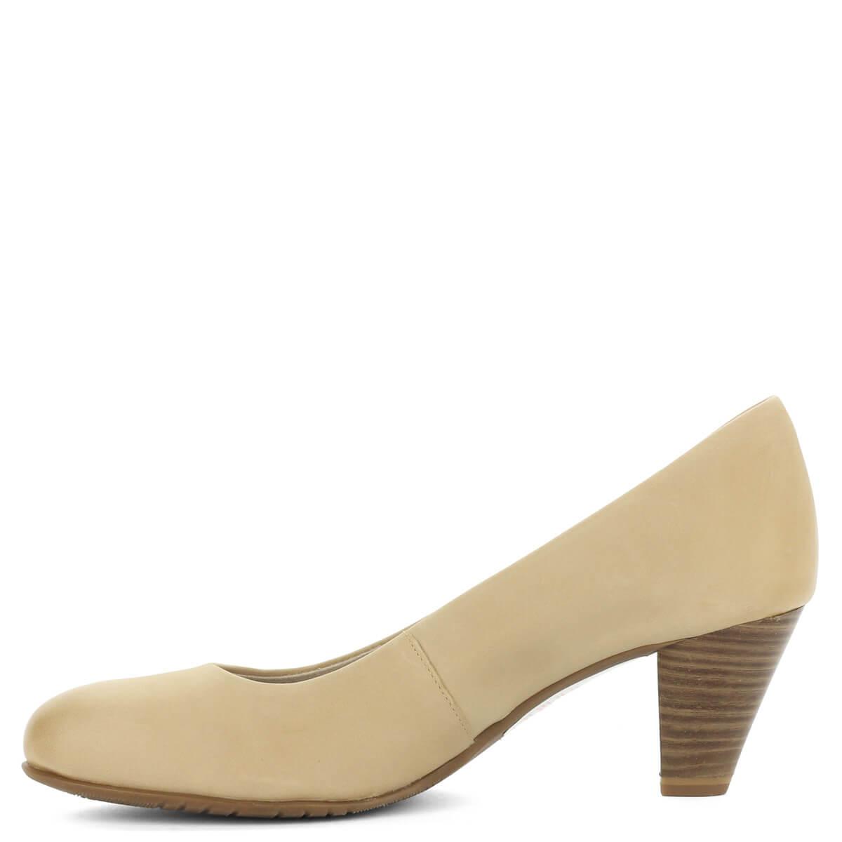 ... Bézs Tamaris cipő Antishokk sarokkal. Közepes magasságú (6 cm) sarokkal  készült 0447e8a27a