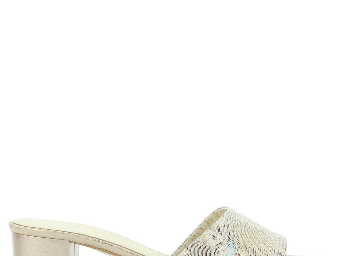 legnépszerűbb márkák részletezve info for Kis sarkú színes Anis bőr papucs 4,5 cm magasságú sarokkal, kívül ...