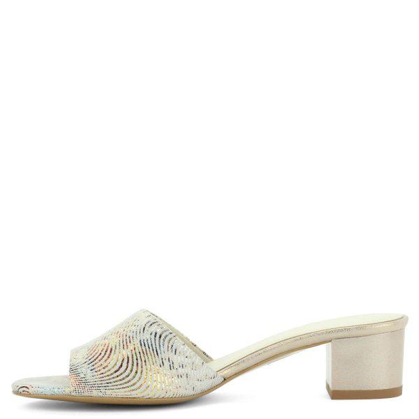 Kis sarkú színes Anis bőr papucs 4,5 cm magasságú sarokkal, kívül-belül természetes bőrből. Elegáns utcai papucs. ChiX Női Cipő Webáruház