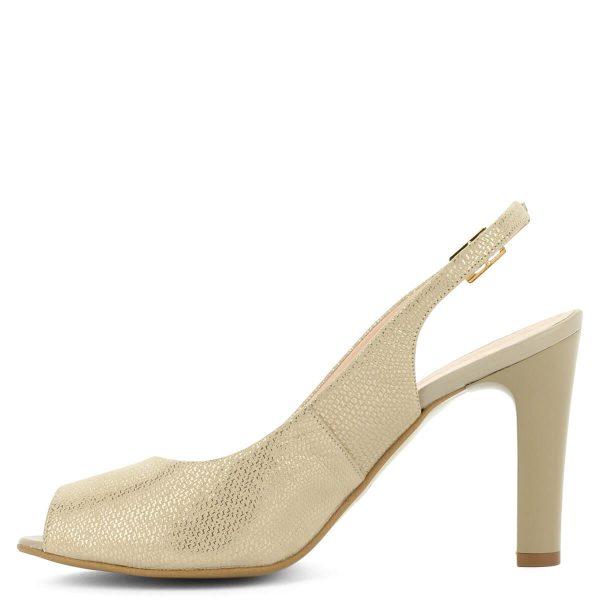 Arany színű Bioeco magassarkú szandál. Bélése és felsőrésze is bőrből készült, sarka 9 cm magas. - ChiX Női Cipő Webáruház