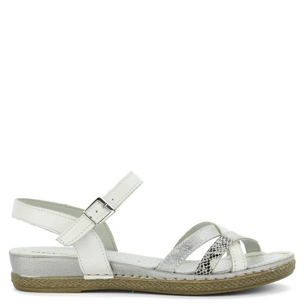 Aeros lapos szandál fehér színben nagyon puha, párnázott talpbéléssel készült. Kényelmes, komfortos szandál. - ChiX Női Cipő Webáruház