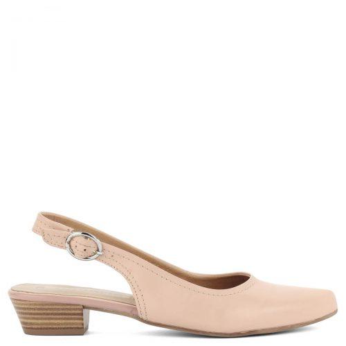 Rózsaszín lapos Tamaris szandálcipő csattal állítható sarokpánttal, kb 3 cm magas sarokkal. Nyújtott orrú fazon. - ChiX Női Cipő Webáruház