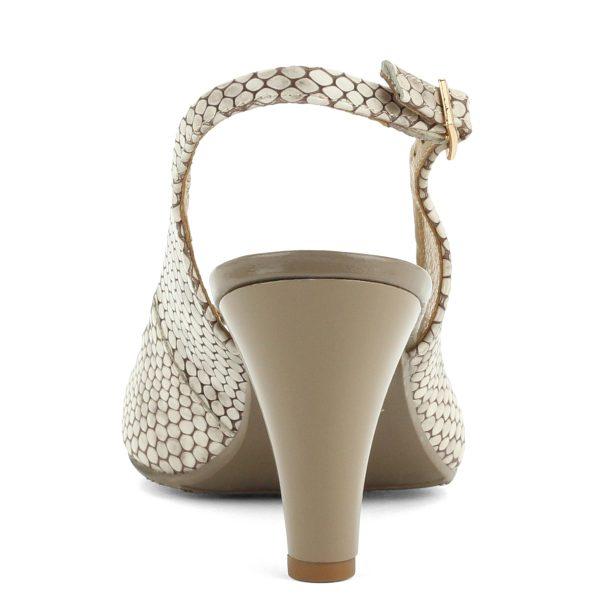 Kígyómintás Bioeco női bőr szandál 8 cm magas sarokkal. Felsőrésze és bélése is bőrből készült. - ChiX Női Cipő Webáruház