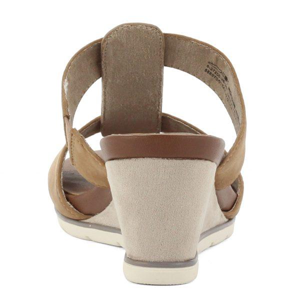 Telitalpú Jana bőr papucs barna színben, komfortos talpbéléssel. Sarka 7 cm magas, talpa 2 cm vastagságú. Talpa H szélességű. ChiX Női Cipő Webáruház