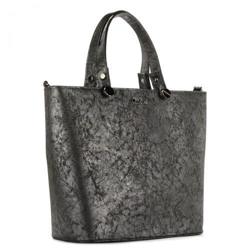 Abakus szürke női táska osztott belső térrel, tartozék vállpánttal